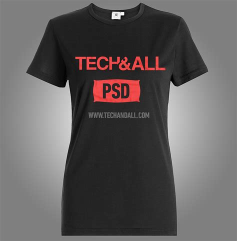 female  shirt mockup  psd tech