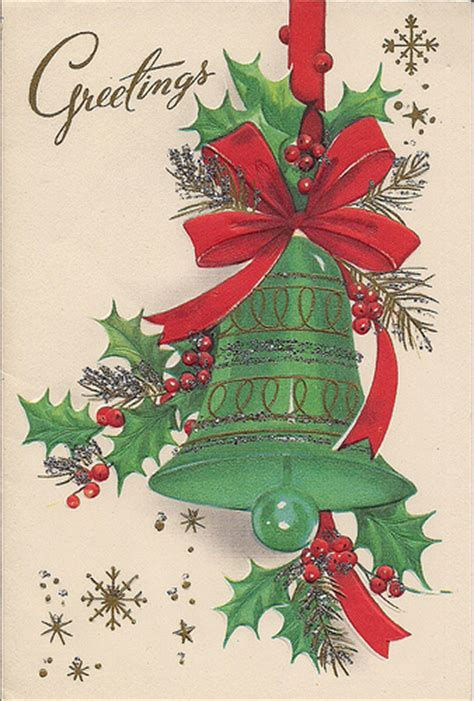 vintage christmas bells card front vintage christmas card susy flickr