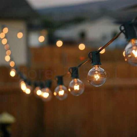 string lights patio lights g40 globe string light warm