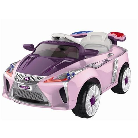pink kid car lexus style kids ride on 12v electric battery powered