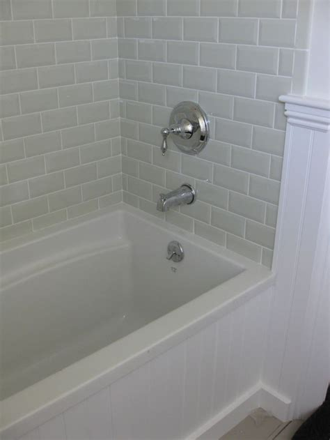 love  beveled subway tile master bathroom