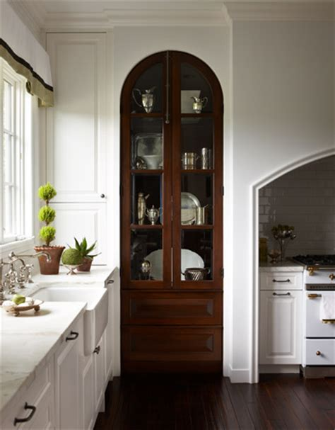 built in china hutch peonies brass school china cabinets in the kitchen