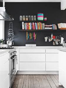 Black and white kitchen decoration modern home decor for Kitchen colors with white cabinets with 4 murs papier peints