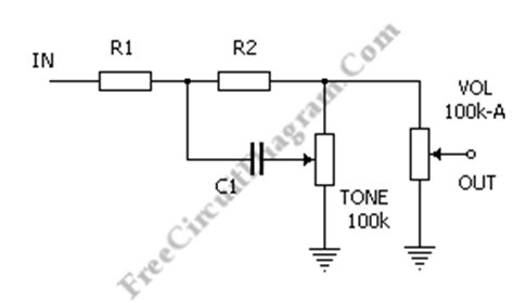 Tone Control Electronic Circuit Diagram