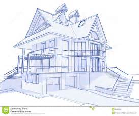 blueprints of houses modern house blueprint stock photo image 6360290
