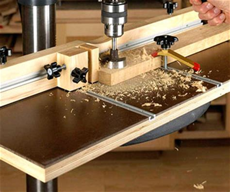 wise buys  experts test wood working drill press tables wood magazine plan built issue
