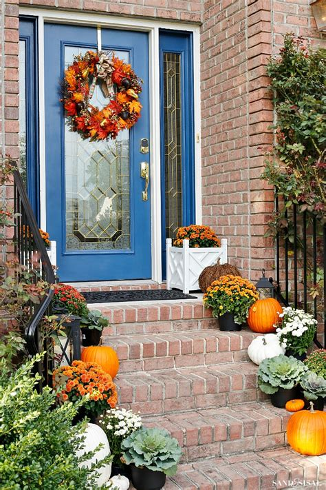 fall front porch indigo and orange fall front porch sand and sisal