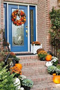Indigo, And, Orange, Fall, Front, Porch