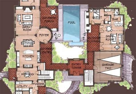 mexican hacienda floor plans hacienda spanish style home floor plans  hacienda homes