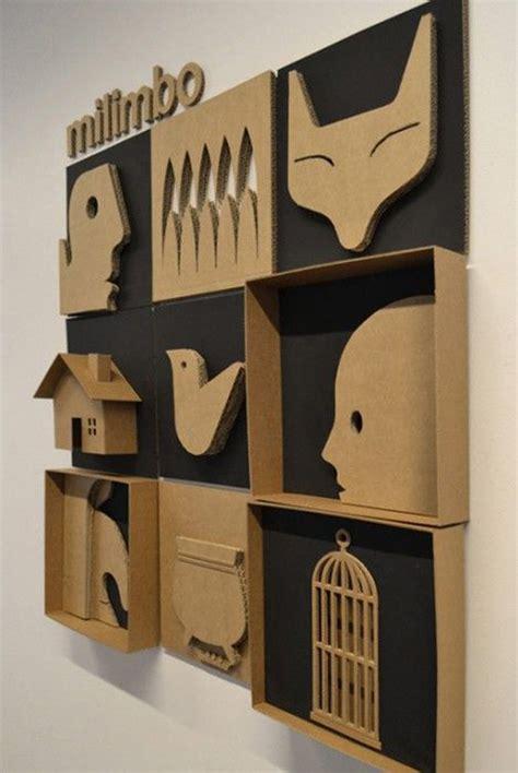 cardboard art wall decor homemydesign