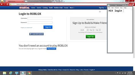 How Do You Login To Roblox With Your Facebook