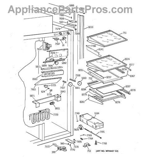 parts  ge zisbdyb fresh food section parts appliancepartsproscom
