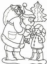 Coloring Santa Natale Babbo Bambola Colorare Bambina Disegno Doll Stampare Disegni Regala Alla Gives Printable Ornaments Che Desenhos Colorir Natal sketch template