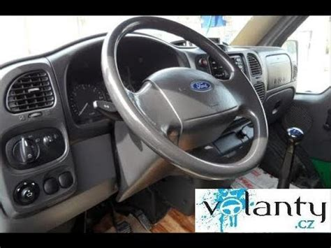 remove steering wheel airbag ford transit