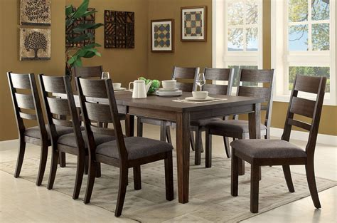 espresso dining room set isadora espresso extendable rectangular dining room set