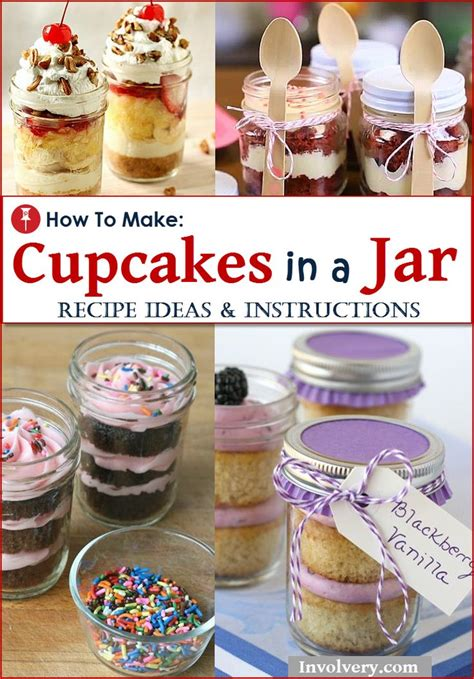 mason jar cupcakes ideas  pinterest cake