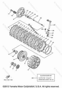 Yamaha Motorcycle 2004 Oem Parts Diagram For Clutch