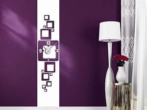 Retro Uhren Wand : wandtattoo uhr banner retro wandbanner xxl wandtattoo de ~ Whattoseeinmadrid.com Haus und Dekorationen