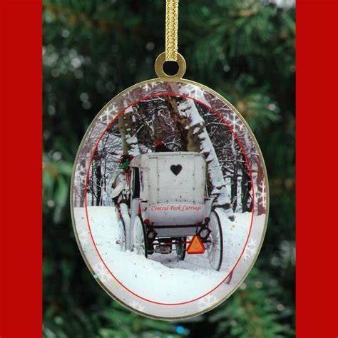 central park carriage new york christmas ornament ny