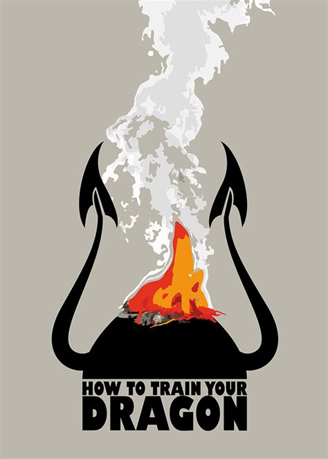 How To Train Your Dragon Minimalist Poster On Behance