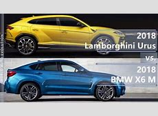 2018 Lamborghini Urus vs 2018 BMW X6 M technical