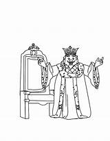 King Coloring Happy sketch template
