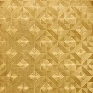 Gold Foil Flower 3d Relief Wallpaper Gold Mosaic Wallpaper ...