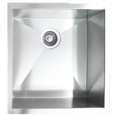 zero radius kitchen sink 19 inch stainless steel undermount single bowl kitchen 1709