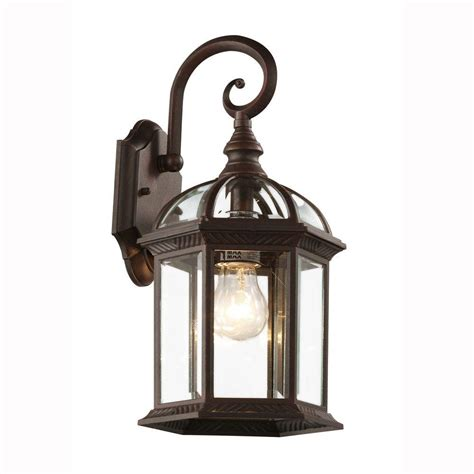 bel air lighting wall mount 1 light outdoor rust coach lantern with clear glass 4181 rt the
