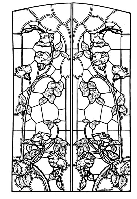 Art Nouveau Stained Gl Coloring Pages Coloring Pages