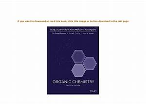 Hardcover   Organic Chemistry 12e Study Guide Student