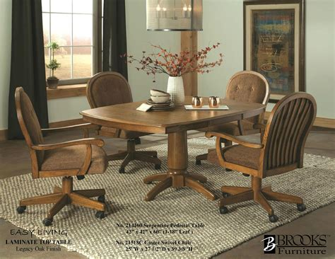 brooks laminate table  roller chairs