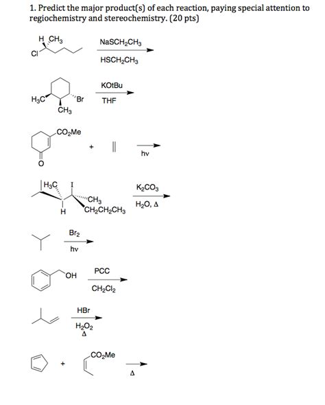 Solved Predict The Major Product(s) Of Each Reaction, Pay Cheggcom