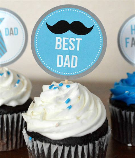 happy fathers day cupcakes  printable