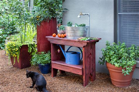 how to build an outdoor sink bonnie plants