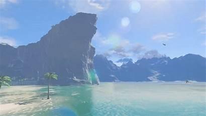 Botw Zelda Scenery Wild Breath Backgrounds Legend
