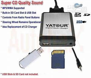 Car Digital Cd Changer Usb Sd Mp3 Interface For Ipod Aux