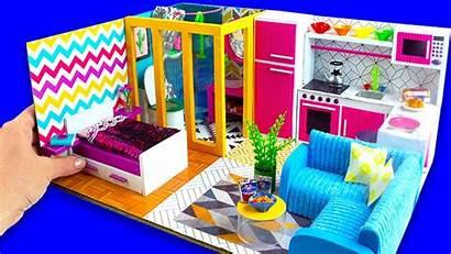 Cardboard Bedroom Kitchen Diy Living Bathroom Miniature