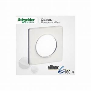 Plaque Schneider Odace : plaque schneider odace touch blanc mat 1 poste s520802 ~ Dallasstarsshop.com Idées de Décoration