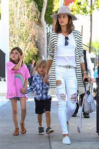 Lily Aldridge & Alessandra Ambrosio Meet Up For Lunch With ...