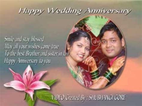 happy wedding anniversary  bhaiya bhabhi youtube