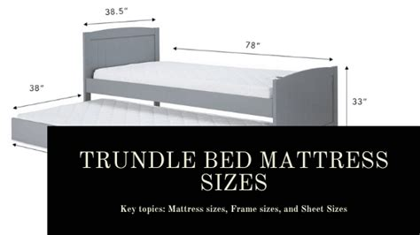 trundle bed mattress sizes frame sizes bedding