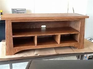 Table Tv Design : oak tv stand from the family handyman woodworking talk woodworkers forum ~ Teatrodelosmanantiales.com Idées de Décoration