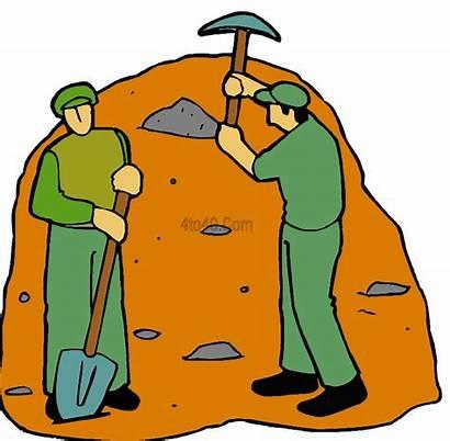 Labor Clipart Quarry Labour Clip Workers Quarrying