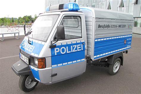 piaggio ape   addition   german police fleet