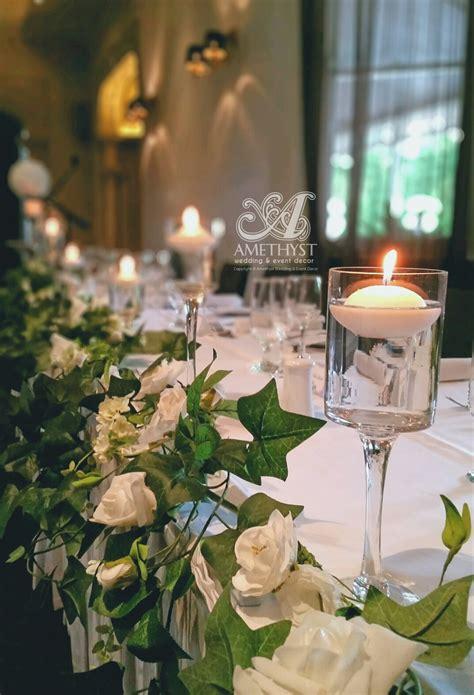 stem cylinder floating candle vases amethyst wedding