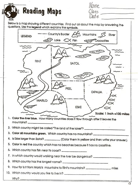 free printable grid map worksheets following directions worksheets map lesson 3rd grade