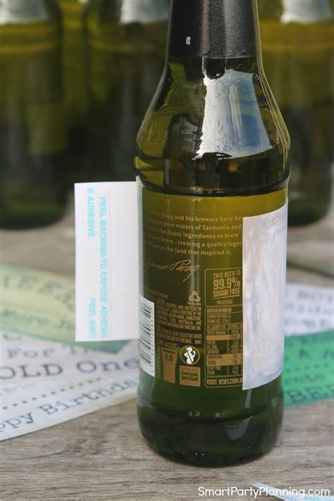 easily attach  printable label  beer bottles