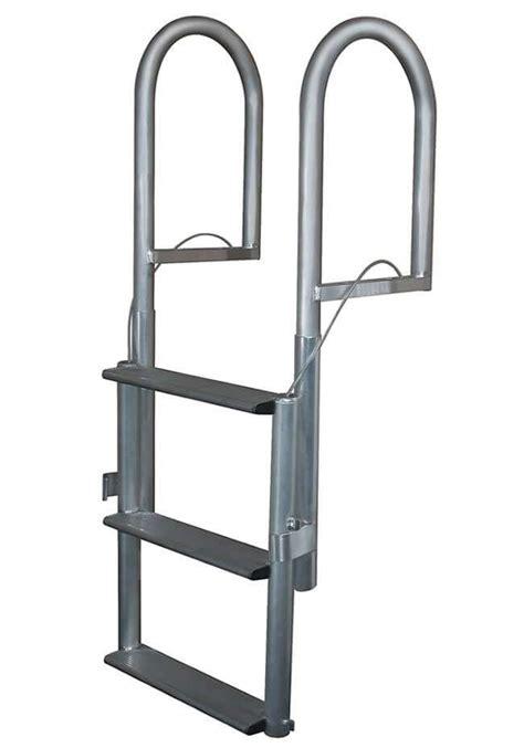 Ultimate Boat Ladder by Ultimate Dock Pier Aluminum Wide Step Lift Dock Ladder