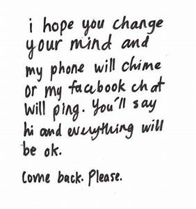 Information About I Want You Back Quotes For Her Yousenseinfo